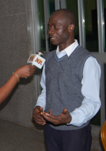 The Lead Facilitator, Olusiji Balogun speaking with journalists at the event